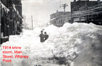 Main Street after 1914 snow storm